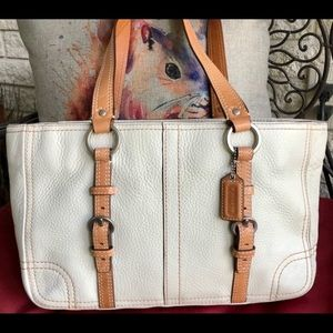 Coach Chelsea Boned Pebbled Leather Tote